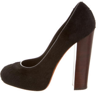Brian Atwood Ponyhair Round-Toe Pumps $130 thestylecure.com