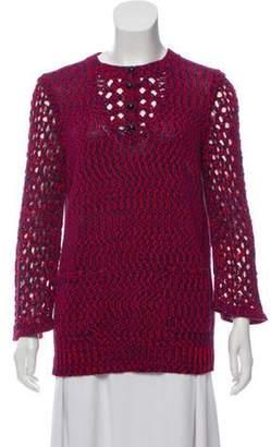 Chanel Opne Knit Lightweight Sweater Red Opne Knit Lightweight Sweater