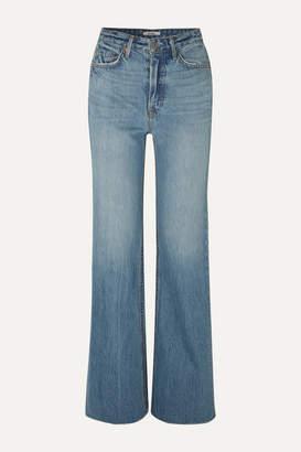 GRLFRND Carla High-rise Flared Jeans - Mid denim