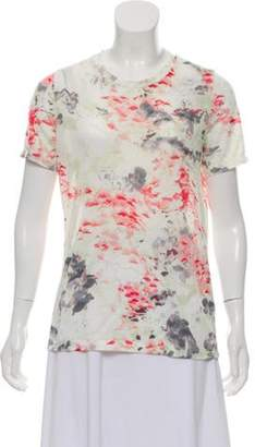 Prabal Gurung Sheer Printed T-Shirt White Sheer Printed T-Shirt