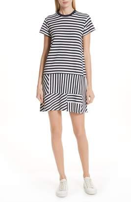 ATM Anthony Thomas Melillo Mixed Stripe Drop Waist Dress