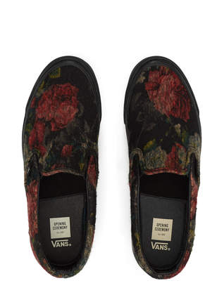 Opening Ceremony Vans For Floral Noir OG Classic Slip-On LX Sneaker