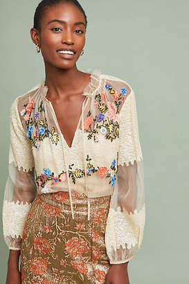 Let Me Be Get Happy Sequin Blouse