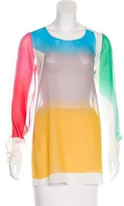 Jonathan Saunders Silk Long Sleeve Top