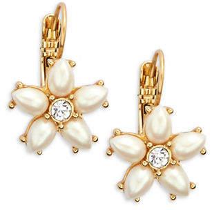 Kate Spade Floral Leverback Earrings