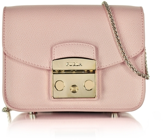 Furla Metropolis Moonstone Leather Mini Crossbody Bag $298 thestylecure.com