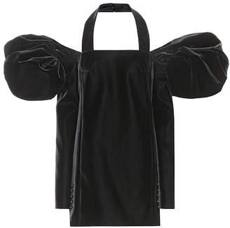 Saint Laurent Velvet off-the-shoulder dress