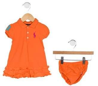 Ralph Lauren Girls' Collared Two-Piece Dress Set