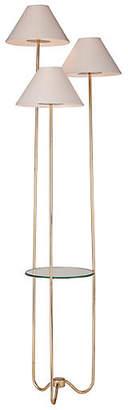 One Kings Lane Capucine Floor Lamp - Distressed Gold