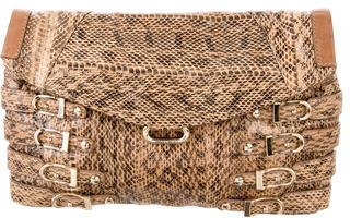 Jimmy ChooJimmy Choo Buckle-Embellished Snakeskin Clutch