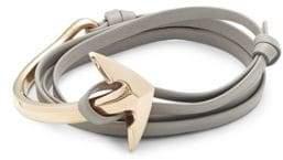 Miansai Stainless Steel & Leather Anchor Bracelet