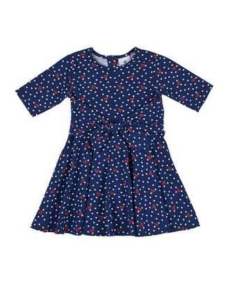 Florence Eiseman Ladybug & Polka-Dot Tie-Front Dress, Size 2-6X