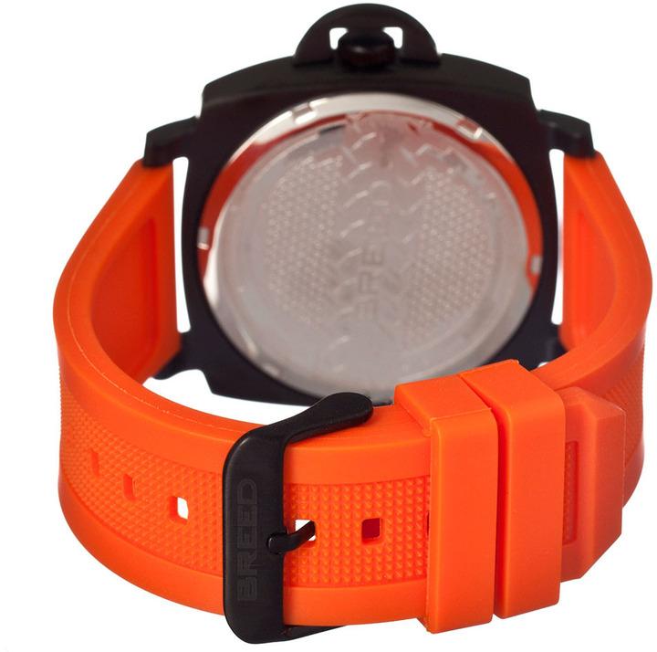 Breed Men's Gunar Orange & Black Round Watch