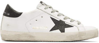 Golden Goose White Metallic Star Superstar Sneaker