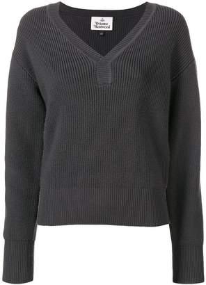 Vivienne Westwood ribbed V-neck sweater