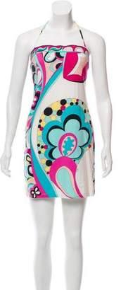 Emilio Pucci Printed Halter Dress