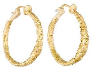 18K Textured Hoop Earrings