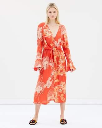 Free People Mixed Print Twist Dress