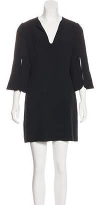 Alexander McQueen Trumpet Sleeve Mini Dress
