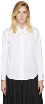 Comme des Garcons White Round Collar Shirt