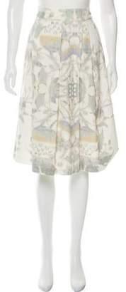 Dries Van Noten Pleated Textured Skirt