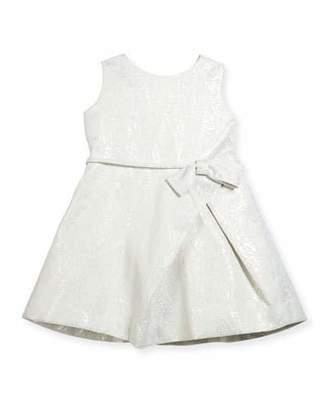 Helena Inverted-Pleat Jacquard Dress, Size 2-6