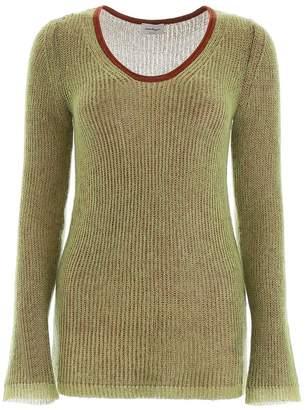 Salvatore Ferragamo green knit top