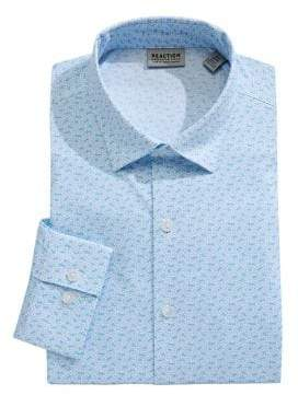 Kenneth Cole Reaction Stretch Slim-Fit Printed Dress Shirt