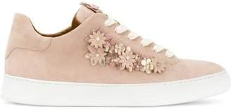 Dioniso Black floral appliqué sneakers