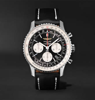 Breitling Navitimer 01 Chronograph 43mm Stainless Steel and Leather Watch