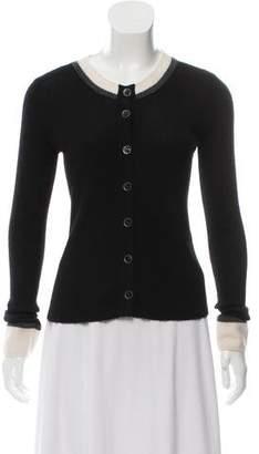 Chanel Cashmere & Silk Rib Knit Cardigan