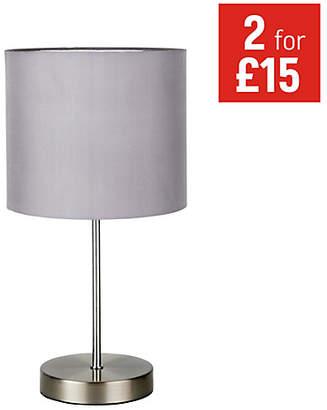 ColourMatch Satin Stick Table Lamp - Flint Grey