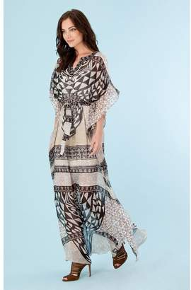 Hale Bob Lucine Silk Caftan Dress