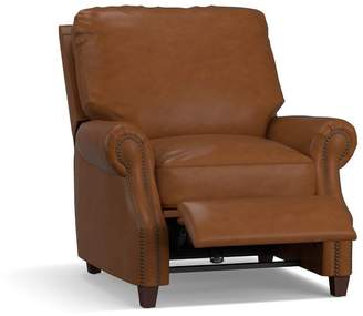 Pottery Barn James Leather Power Recliner