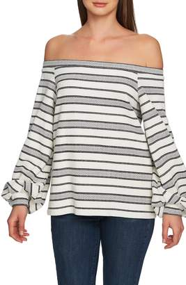 1 STATE 1.STATE Off the Shoulder Jacquard Top