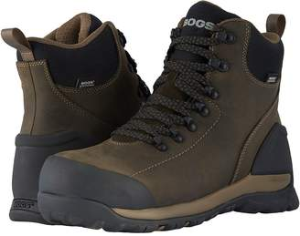 Bogs Foundation Leather WP Mid Comp Toe Men's Rain Boots