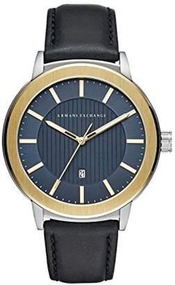 04c6f0efcc0 Armani Exchange Men s Analogue Quartz Watch with Leather Strap AX1463