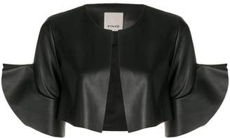Pinko cropped ruffle trim jacket