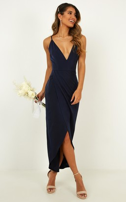 Showpo Shes a dreamer dress in navy - 4 (XXS) Bridesmaid