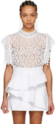 Isabel Marant White Kery Broderie Anglaise Blouse