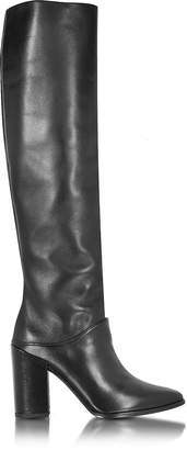 Stuart Weitzman Scrunchy Black Nappa High Heel Boot