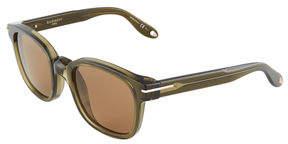 Givenchy Square Acetate Opaque Sunglasses