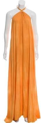 L'Agence Halter Maxi Dress