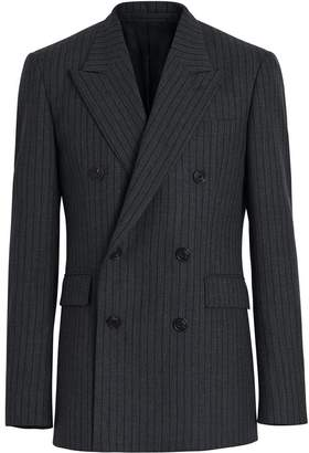 Burberry Classic Fit Pinstriped Wool Tailored Jacket