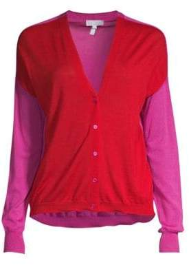 Escada Sport Wool Colorblock Cardigan