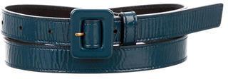 Saint LaurentYves Saint Laurent Patent Leather Buckle Belt