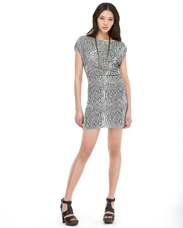 Quotation: Sweet Pea Snake-Printed Dress