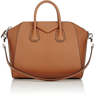 Givenchy Women's Antigona Medium Duffel Bag-BROWN $2,435 thestylecure.com