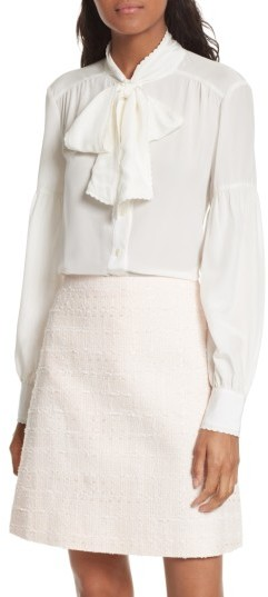 Women's Kate Spade New York Myrah Tie Neck Silk Blouse