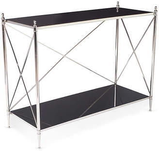 One Kings Lane Grace Contemporary Console - Black/Nickel